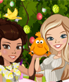 Zoe and Lily Easter Joy Dress Up Game