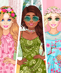 Girls Ready For Spring Dress Up Game