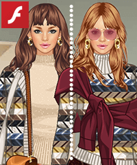 Sweater Over Sweater Dress Up Game