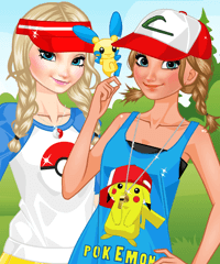 Frozen Sisters Pokemon Go Dress Up Game