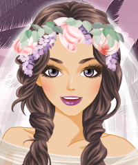 Wedding Veils with Flowers Make Up Game