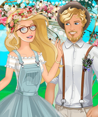 Olivia Hipster Wedding Dress Up Game