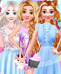 BFFs Unicorn Party Dress Up Game