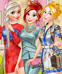 Princesses Spring Fashion Brands Dress Up Game