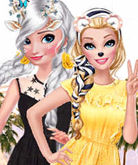 Boho Summer Festival Besties Dress Up Game