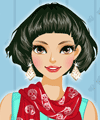 Skull Print Scarf Dress Up Game