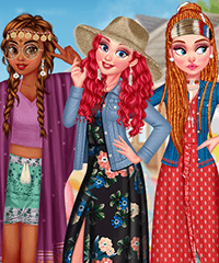 Modern Hippie Dress Up Game