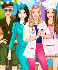 Barbie Careers Dress Up Game