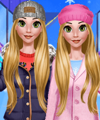 Rapunzel Winter Day Dress Up Game