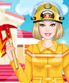 Barbie Firefighter Dress Up Game