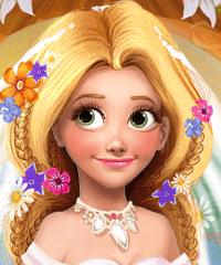 Blond Princess Rapunzel Wedding Fashion Game