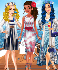 Moana Yacht Party for Princesses Dress Up Game