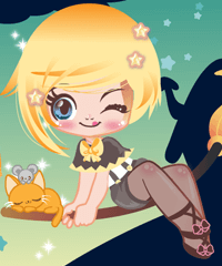 Witchy Cutie Dress Up Game