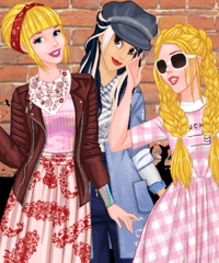 Princess Urban Fashion Statement Dress Up Game