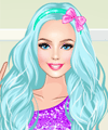 Barbie Color Party Dress Up Game