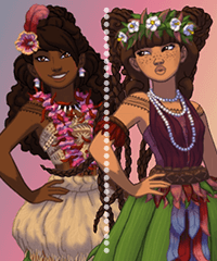 Polynesian Princess Dress Up Game