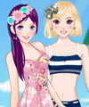 Beach Friends Dress Up Game