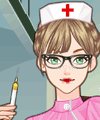Retro Nurse Make Up Game