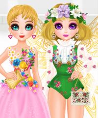 Princess Spring Fashion Show Dress Up Game