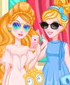 Cinderella and Ashlynn Ella Dress Up Game