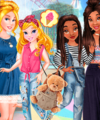 Princesses Little Sisters Day Dress Up Game