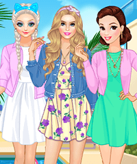 Disney Princess Summer Weekend Dress Up Game