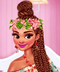 Princesses Hawaiian Memories Dress Up Game