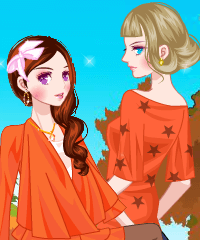 Fancy Orange Color Dress Up Game