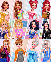 Princesses Now and Then Dress Up Game