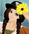 Sunflower Hats Make Up Game