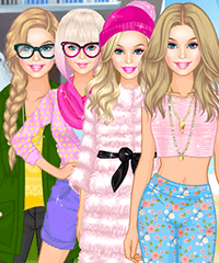 Barbie 4 Seasons Dress Up game