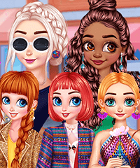 Colorful Fashionistas Dress Up Game