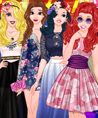 Princess Graduation Party Night Dress Up Game