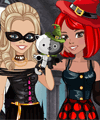 Zoe and Lily Halloween Party Dress Up Game
