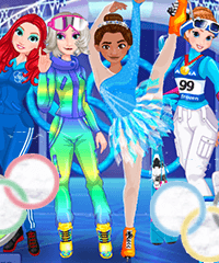 Princess Winter Olympics Dress Up Game