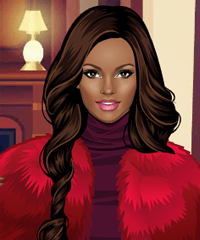 Faux Fur Queen Dress Up Game