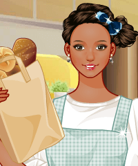 Bread Shop Dress and Make Up Game