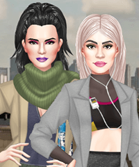 Kendall vs Kylie Yeezy Edition Dress Up Game