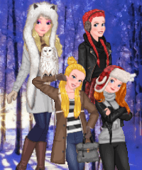 Princess Winter Photoshoot Dress Up Game