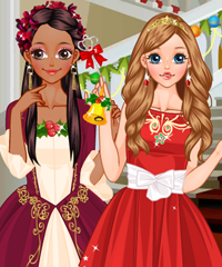 Christmas Princesses Dress Up Game