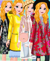 Elsa Fashion Raincoat Dress Up Game