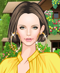 Bright Yellow 3 Dress Up Game