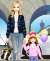Pretty Mommy and Child Dress Up Game