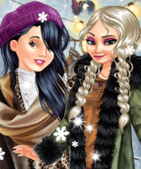 Boho Winter with Princesses Dress Up Game