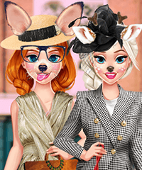 Anna and Elsa Social Media Adventure Dress Up Game