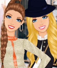 Barbie Glam Queen Dress Up Game