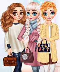 Princesses Warm Winter Outfits Dress Up Game