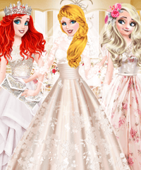 Cinderella Bridal Fashion Collection Dress Up Game