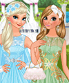 Bride Elsa Bridesmaid Anna Frozen Wedding Dress Up Game