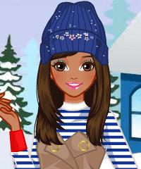 Happy Winter Holidays Dress Up Game
